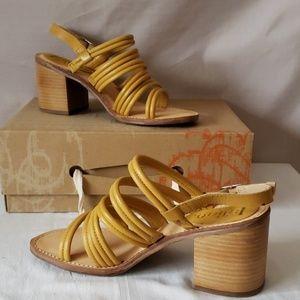 Latigo yellow leather sandals